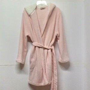 Ulta Beauty Pink Plush Hooded Wrap Spa Robe L/XL
